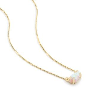 Kendra Scott Jayde Necklace in White Kyocera Opal